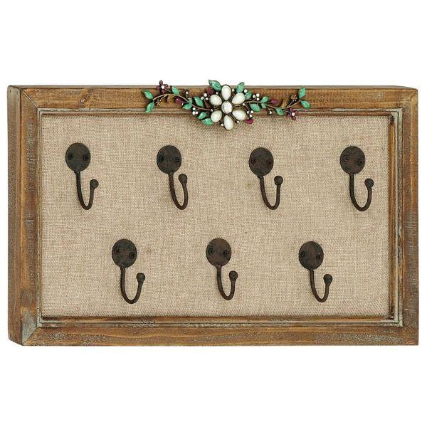 7-hook Flower Wall Key Holder