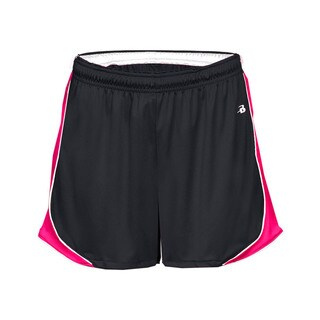 3-inch Inseam Women's Pacer Performance Black/ White/ Hot Pink Short