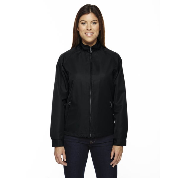 Mid-length Women's Micro Twill Black 703 Jacket