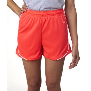 3-inch Inseam Women's Pacer Performance Hot Coral/ White Short