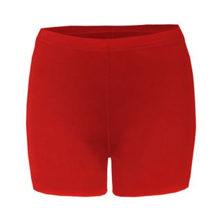 4-inch Inseam Women's Blended Compression Red Short