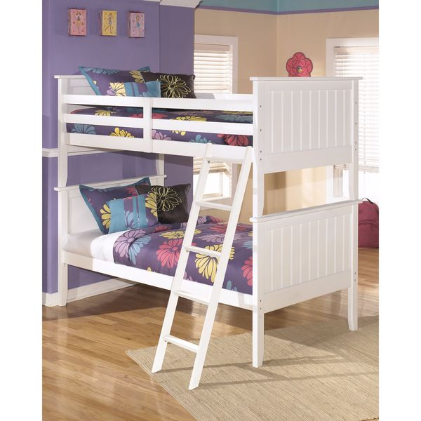 Signature Design by Ashley Lulu White Twin Bunk Bed
