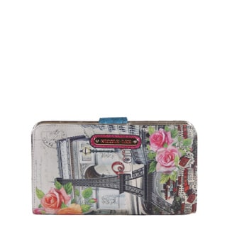 Nicole Lee Multicolored Faux Leather Europe Print Wallet