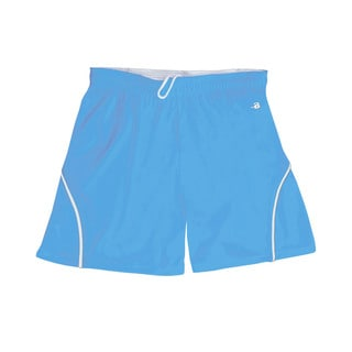 "B-core """"closer"""" 6-inch Women's Athletic S Columbia Blue/ White Short"