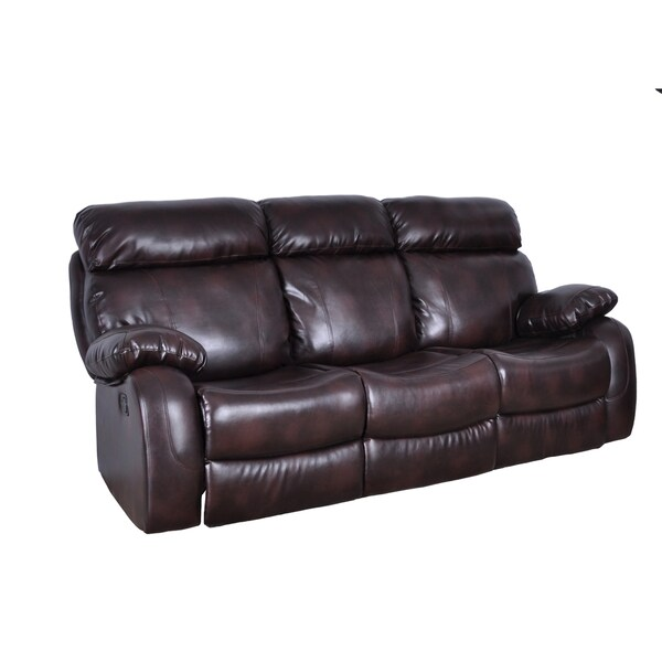 Burnt Brown Barclay Reclining Sofa