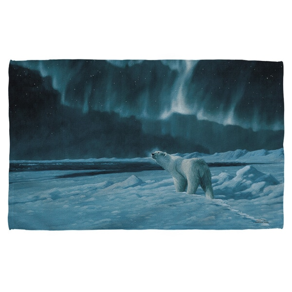 Wild Wings/Polar Night Light 2 Polyester Beach Towel 19716456