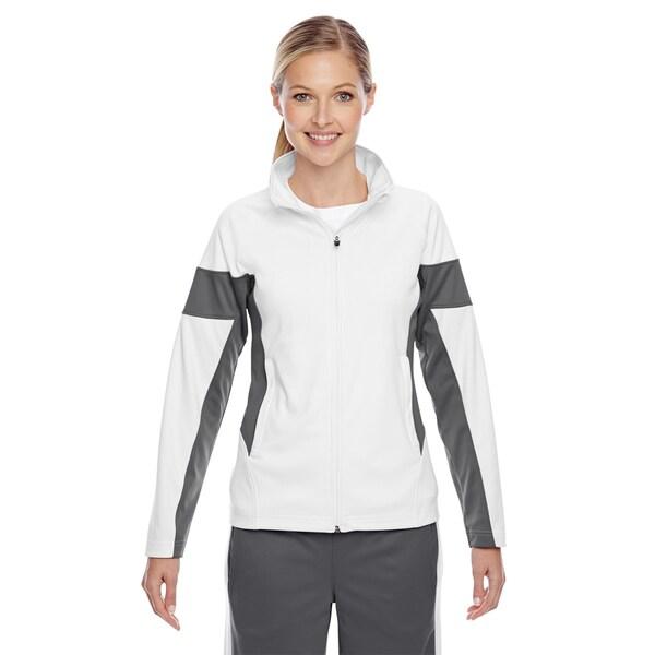 Elite Women's White/ Sport Graphite Performance Full-zip