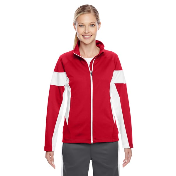 Elite Women's Red/ White Performance Full-zip Sport