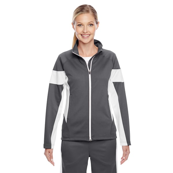 Elite Women's Graphite/ White Performance Full-zip Sport