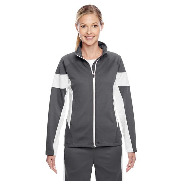 Elite Women's Graphite/ White Performance Full-zip Sport