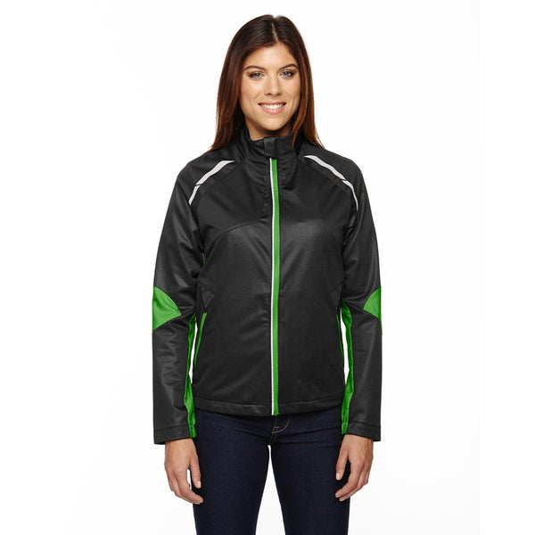 Dynamo Women's Three-layer Lightweight Bonded Performance Hybrid Black/ Acid Grn 453 Jacket