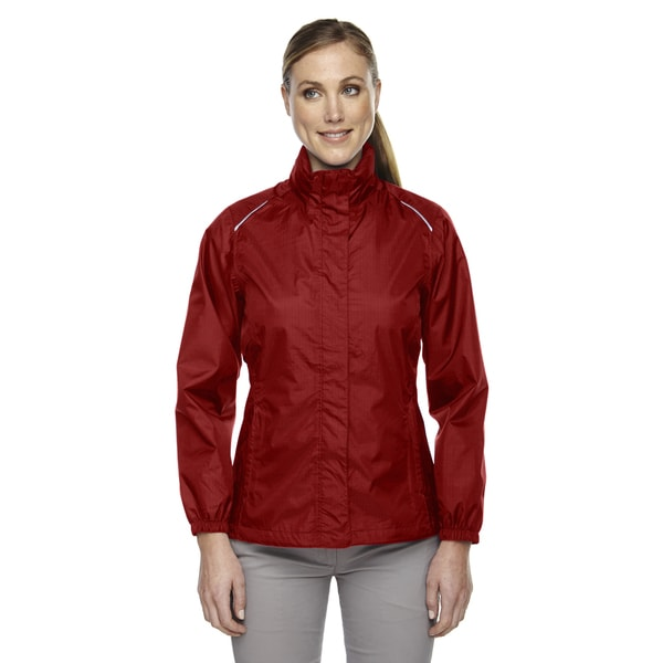 Climate Women's Seam-sealed Lightweight Variegated Ripstop Classic Red 850 Jacket