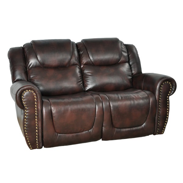Life Style Brighton Brown Reclining Loveseat