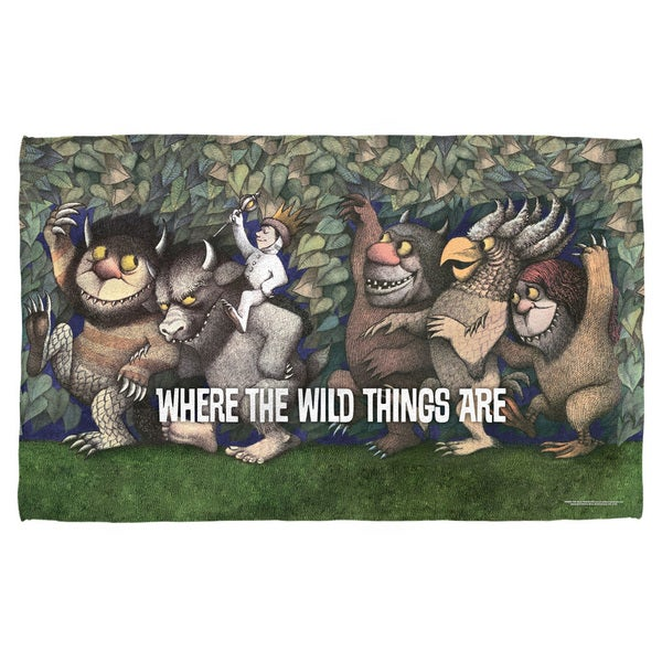 Where The Wild Things Are/Wild Rumpus Dance Polyester Beach Towel 19716992