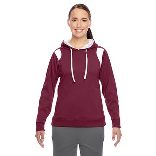 Elite Women's Performance Sport Maroon/ White Hoodie