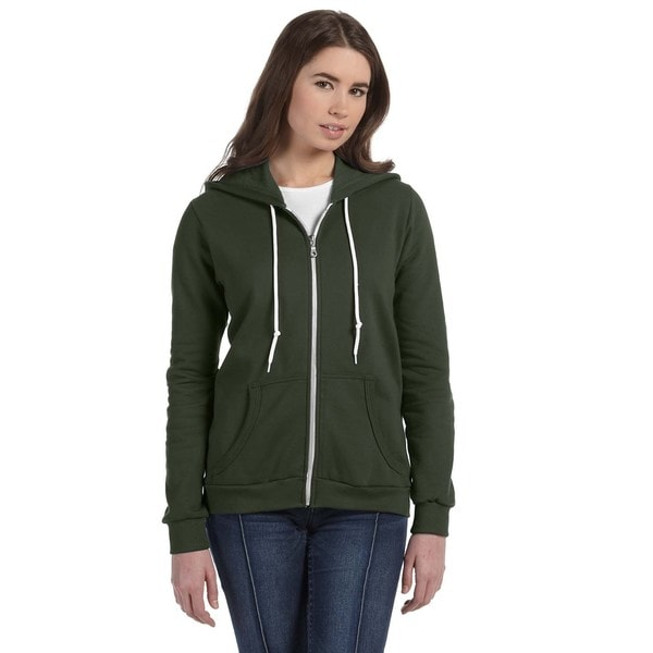 Full-zip Women's City Green Hooded Fleece