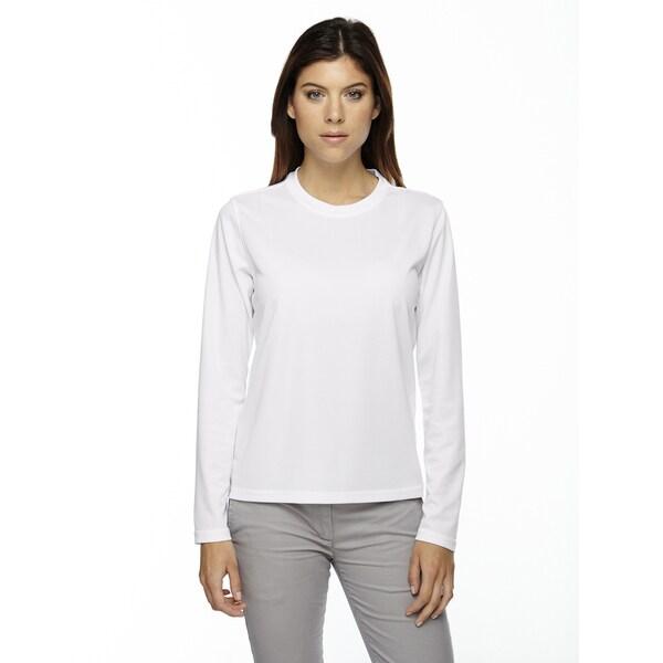 Agility Women's Performance Long-sleeve Pique Crew Neck White 701 Shirt 19717291