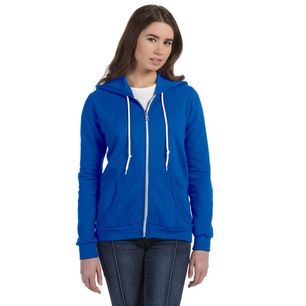 Full-zip Women's Royal Blue Hooded Fleece