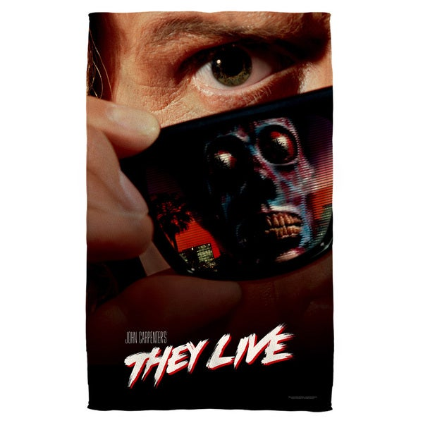 They Live/Poster Beach Towel