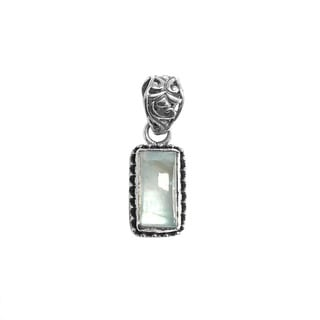 Handcrafted Sterling Silver Rainbow Moonstone Vertical Bar Pendant (Indonesia)
