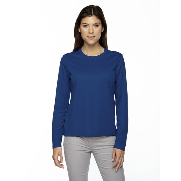 Agility Women's Performance Long-sleeve Pique Crew Neck True Royal 438 Shirt