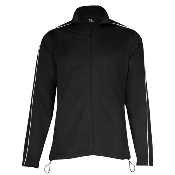 100-percent Polyester Women's Razor Full Zipper Black/ White Jacket 19718196