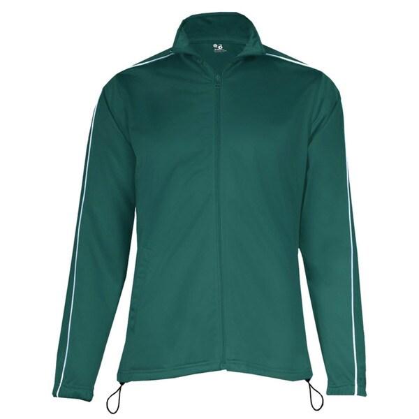 100-percent Polyester Women's Razor Full Zipper Forest/ White Jacket 19718203