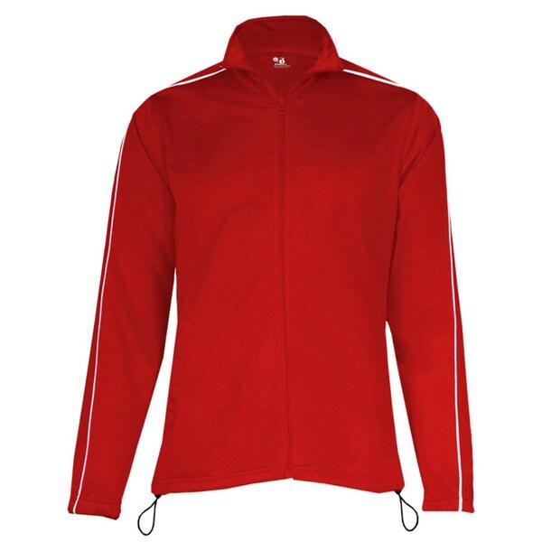 100-percent Polyester Women's Razor Full Zipper Red/ White Jacket 19718425