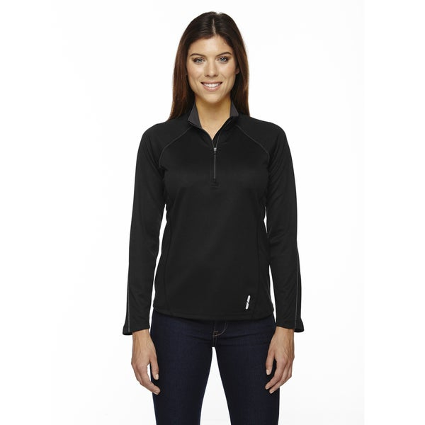 Radar Women's Half-zip Black 703 Performance Long-sleeve Top 19718550