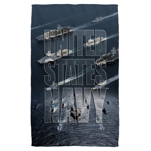 Navy/Fleet Beach Towel