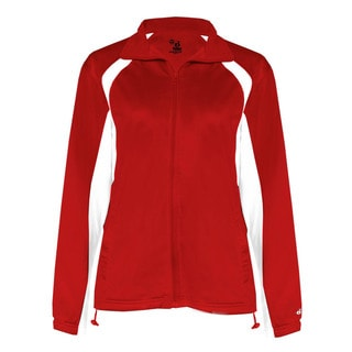 Brushed Tricot Women's Hook Red/ White Jacket