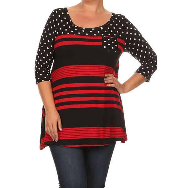 Women's Polka Dot Stripe Top