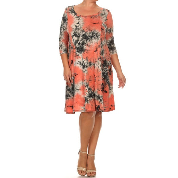 Plus Size Tie Dye Dress 19719171