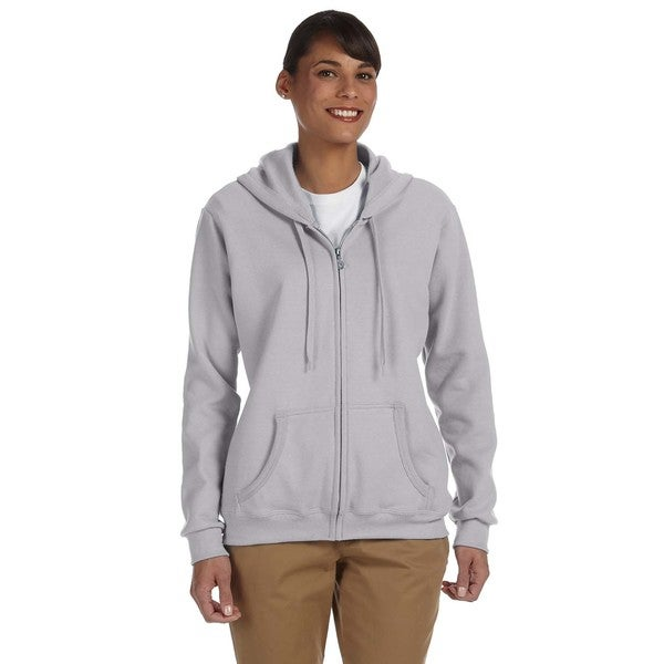 Heavy Blend Women's 50/50 Sport Grey Full-zip Hoodie