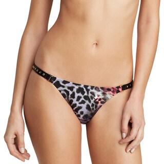 PilyQ Madagascar Animal-print Faux Leather Full Bikini Bottom