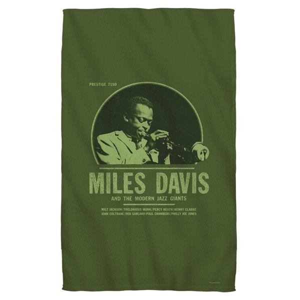 Miles Davis/Green Miles Beach Towel 19719615