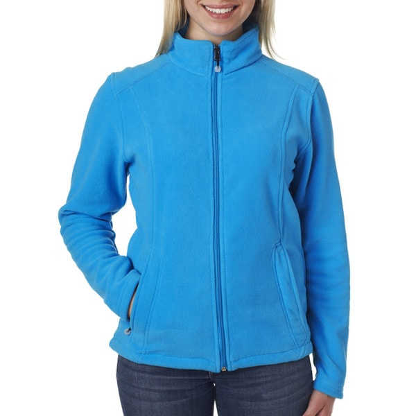 Micro-fleece Women's Full-zip Kinetic Blue Jacket