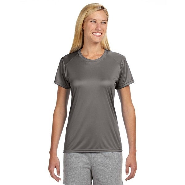 Shorts Sleeve Women's Shirt Graphite Cooling Performance Crew