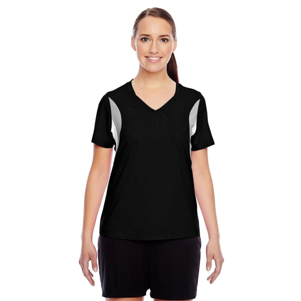 Short-sleeve Women's V-neck Black All Sport Jersey