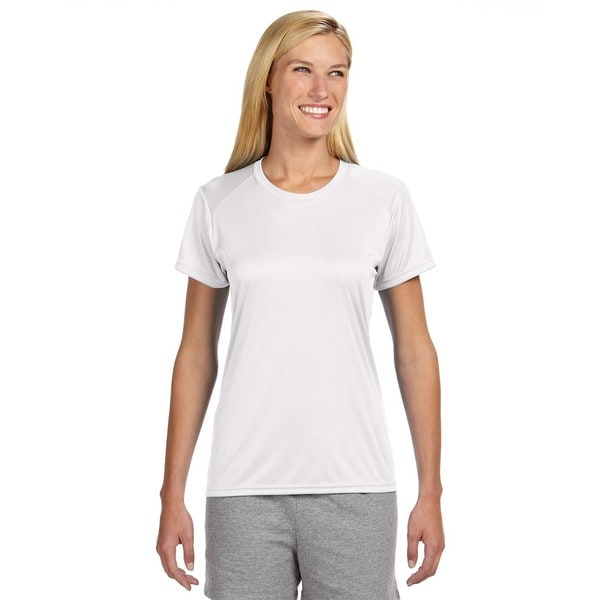 Shorts Sleeve Women's Shirt White Cooling Performance Crew