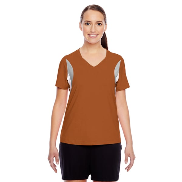 Short-sleeve Women's V-neck Sport Burnt Orange All Sport Jersey