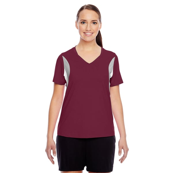 Short-sleeve Women's V-neck Sport Maroon All Sport Jersey