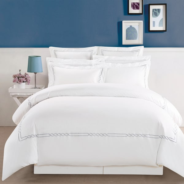Superior Lorenz t 100-percent Premium Cotton Embroidered Duvet Set