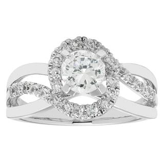 Boston Bay Diamonds 1/4 Ctw. Diamond Wrapped Halo Split Shank Semi Mount with 3/4 Ct. Round Center Diamond in 14K Gold
