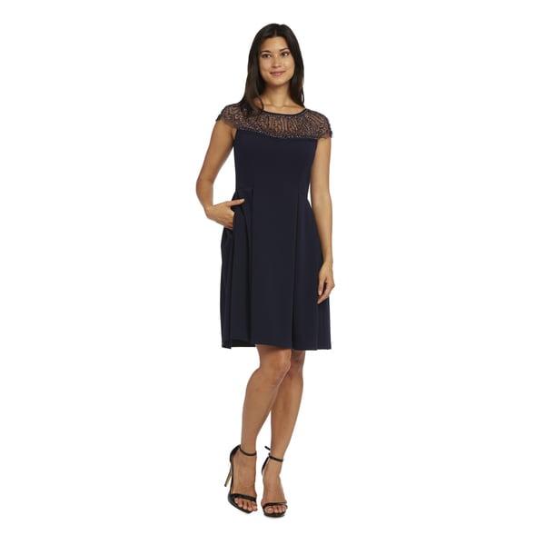 R&M Richards Navy Short Dress