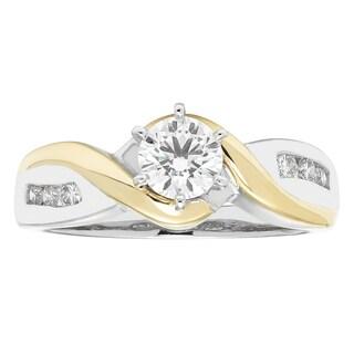 Boston Bay Diamonds 14k Two-tone Gold 5/8ct TDW Diamond Channel-set Ring (G-H, SI1-SI2)