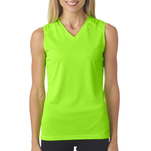 Sleeveless Women's Lime Shirt
