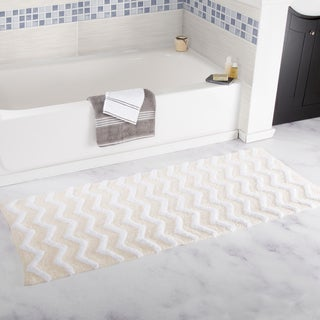 Windsor Home 100% Cotton Chevron Bathroom Mat - 24x60 inches