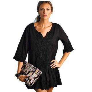 PilyQ Patara Black Christina Cotton Cover-up Dress