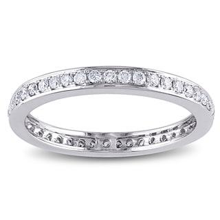 Miadora Signature Collection 14k White Gold 1/2ct TDW Diamond Eternity Ring (G-H, SI1-SI2)